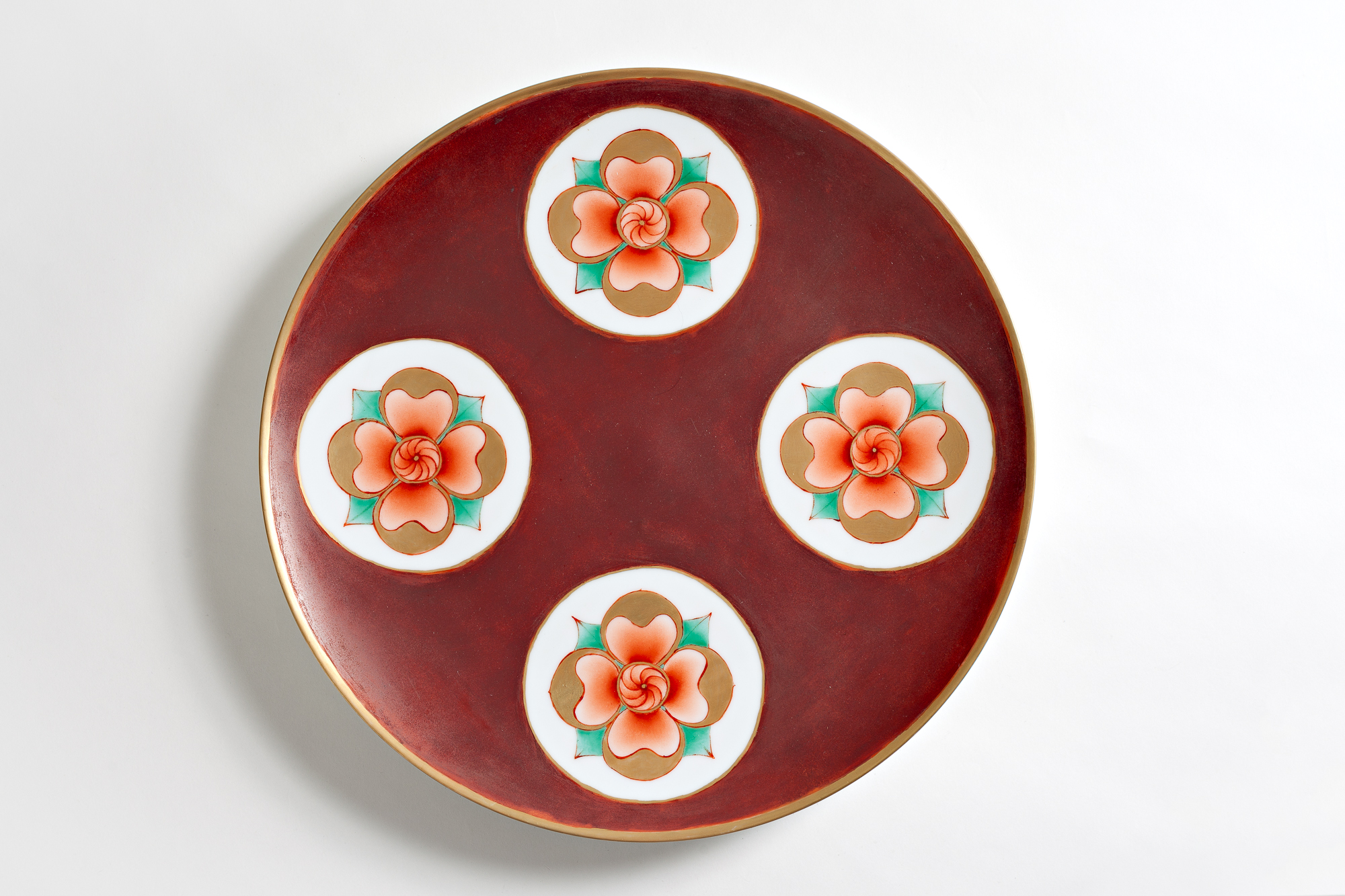 Porcelain Plate with Flower Medallions